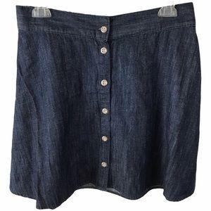 MERONA Skirt Chambray Dark Blue Denim Mini NWT